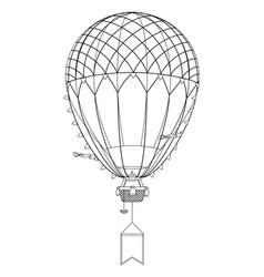 aerostat hot balloon vector image