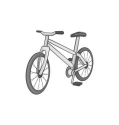 Bike icon black monochrome style vector image