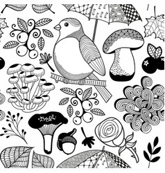 black and white endless wallpaper for coloring vector image