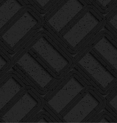 Black textured plastic rounded rectangles vector image