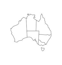 Blind map of Australia vector
