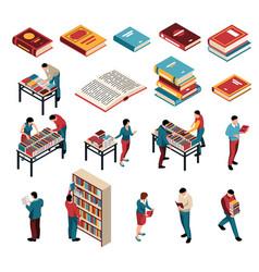 Book fair exhibition set vector