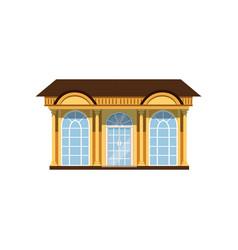 Boutique with showcases store facade vector