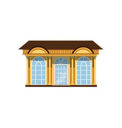 boutique with showcases store facade vector image