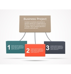 Business infographic chart graph project vector image