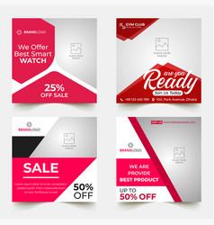 Business sale social media post template vector