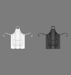 Chef apron black and white cook uniform 3d mockup vector