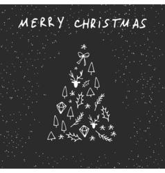 christmas flat postcard vector image
