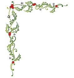 Christmas holly tendril vector