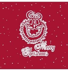 Christmas Sticker Bells vector