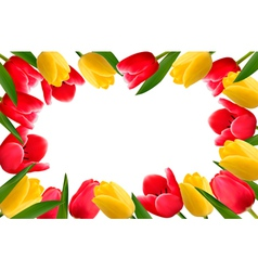 Color spring flower frame vector image