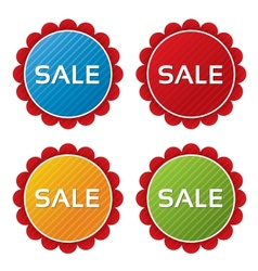 Colorful sale tags with texture collection vector image