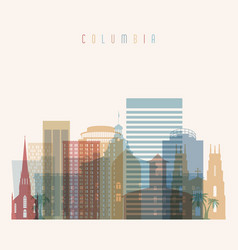 Columbia state south carolina skyline vector