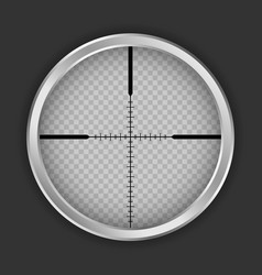 Crosshair shot icon realistic style vector