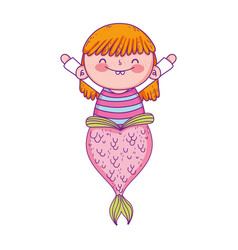 cute mermaid fairy tales vector image