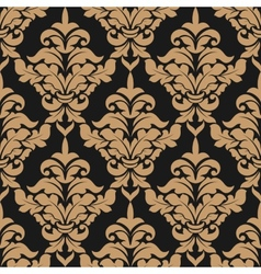 Damask style seamless pattern vector