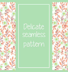delicate pink and turquoise seamless pattern vector image