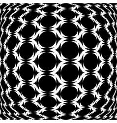 Design monochrome warped grid geometric pattern vector