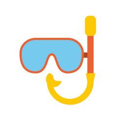 diving mask symbol vector image