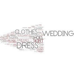 Dress word cloud concept vector