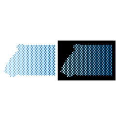 Equatorial guinea map hex tile mosaic vector