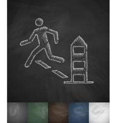 Escape icon Hand drawn vector