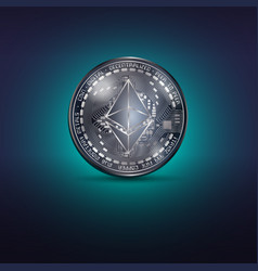 ethereum metal coin vector image