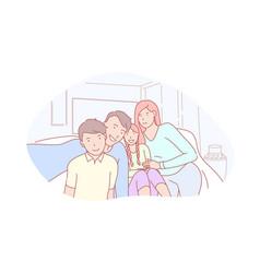 family parenthood childhood selfie concept vector image
