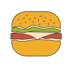 Fast food related icon image vector