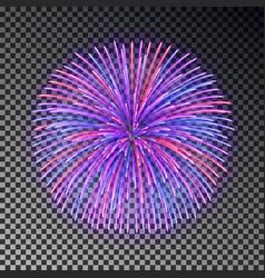 festive color fireworks christmas firecracker lig vector image