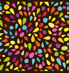 festive seamless pattern with colorful paint vector image