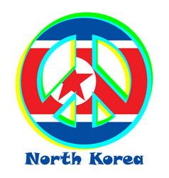 Flag of north korea as a sign of pacifism vector