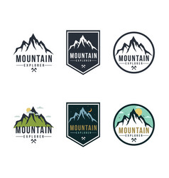 forest mountain adventure badge logo sign vector image