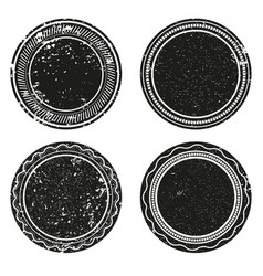 frame labels grunge isolated set ornamental vector image
