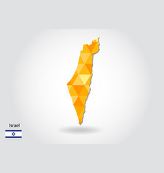 Geometric polygonal style map of israel low poly vector