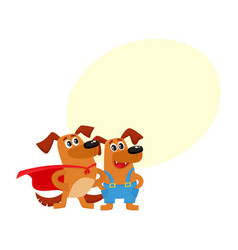 greeting card banner template with dog characters vector image
