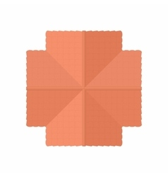 Highly detailed house building top view icon vector