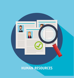 Human resources set icons vector
