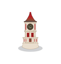 Iconic clock tower design vector