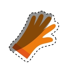 Industrial glove isolated vector