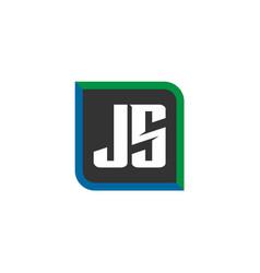 initial letter logo js template design vector image