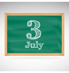 July 3 day calendar school board date vector