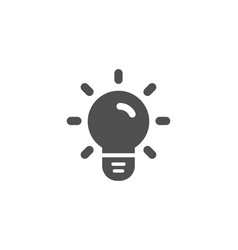 light bulb simple icon lamp sign vector image