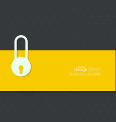 Lock with tape vector