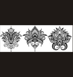 lotus icons set vector image