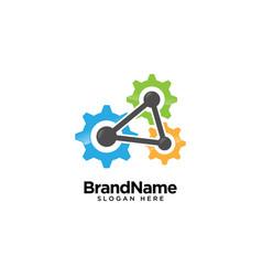 Mechanical gear logo design inspiration vector