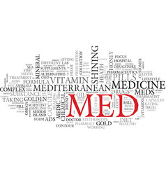 Med word cloud concept vector