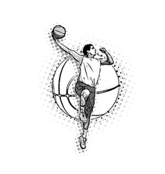 mens basketball vector image