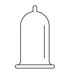 open condom icon outline style vector image