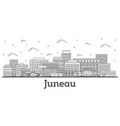 Outline juneau alaska city skyline with modern vector